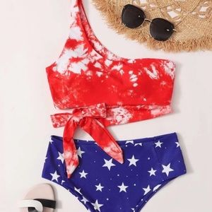 Red, White, and Blue Bathing Suit